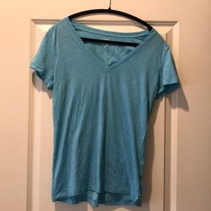 J Crew Factory Aqua V-Neck T-shirt